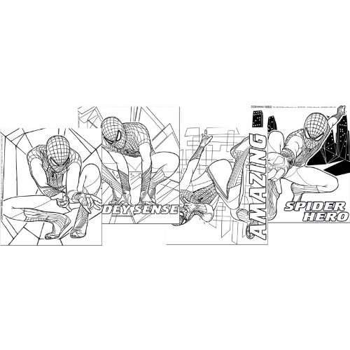 The Amazing Spider-Man Color Your Own Posters (4) Party Accessory