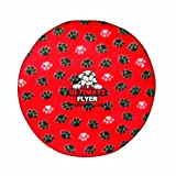 Tuffy's Ultimate Flyer Dog Toy, Red Paws