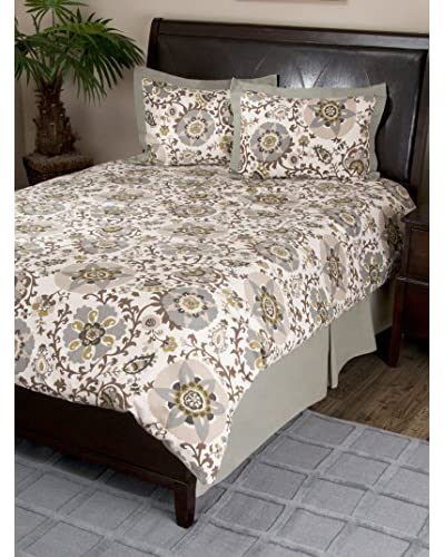 Rizzy Home Ivory Fever Pitch 3-Piece Comforter Set As You See