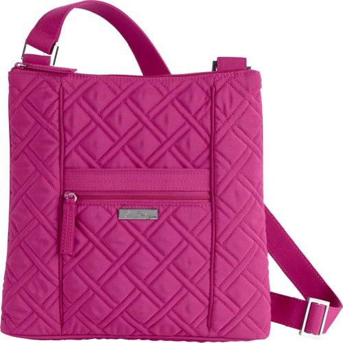 Vera Bradley Hipster Crossbody - Solids (Magenta) Solid Handbag