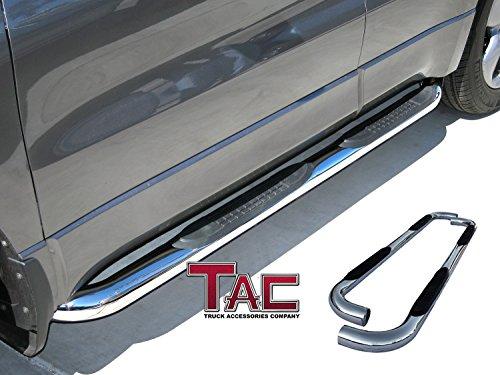 TYGER Star Armor Black Step Nerf Bars Fit 02-09 Ram Quad Cab