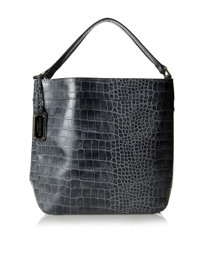 London Fog Women's Parker Hobo, Grey Croco As You See