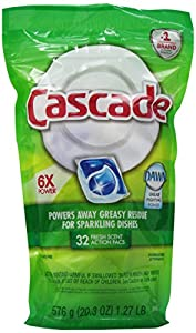 Cascade 2-in-1 Action Pacs Dishwasher Detergent, Fresh Scent, 32-Count (Pack of 5)
