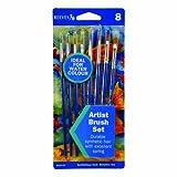 Reeves 8 Golden Nylon Brushes for Watercolour