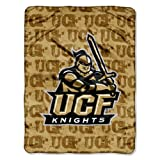NCAA Central Florida Knights 46-Inch-by-60-Inch Micro-Raschel Blanket, Grunge Design