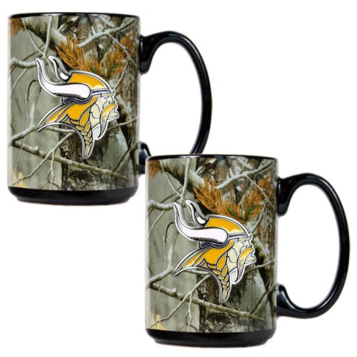 Nfl Minnesota Vikings Open Field Two Piece Ceramic Mug Set front-618874