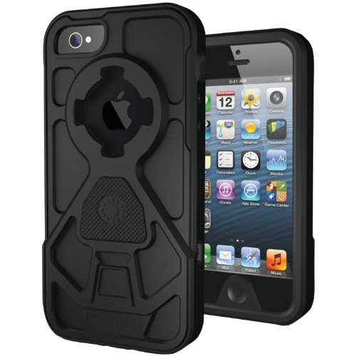Special Sale Rokform RokShield V.2 Bumper Apple iPhone 5 Case with Magnet Grip Insert and Remote Mounting System (Black Bumper / Black Body / Black Grip)