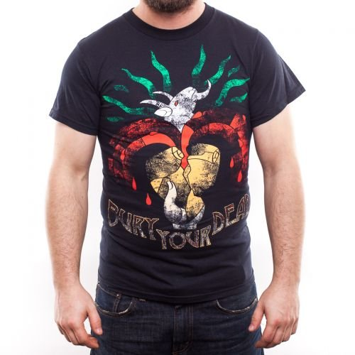 T-shirt., Bury your dead, Goats blood nero Large
