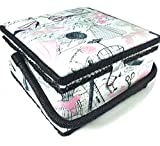 Dress Print Sewing Basket 9.25x9.25x5 Inches