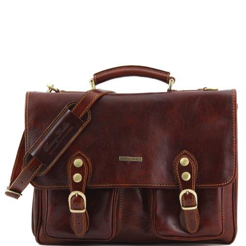 81003104 - TUSCANY LEATHER: MODENA - Messenger Tasche aus Leder, braun
