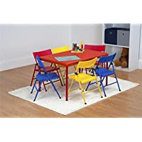 Safety First 7-Piece Children's Juvenile Set with Pinch-Free Folding Chairs and Screw-In Leg Table (Assorted Colors) + $10.86 Sears Credit