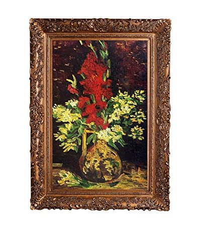 """Vincent van Gogh """"Vase With Gladioli And Carnations"""" Framed Hand-Painted Oil Reproduction"""