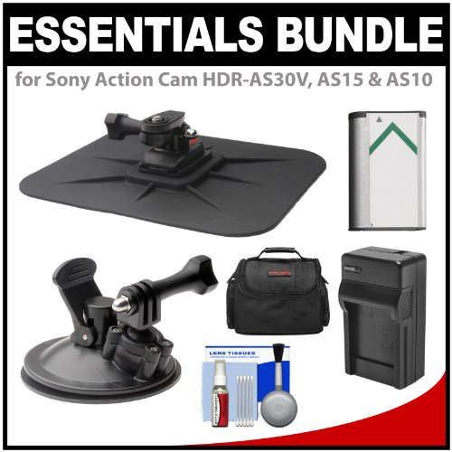 Essentials Bundle for Sony Action Cam HDR-AS30V,