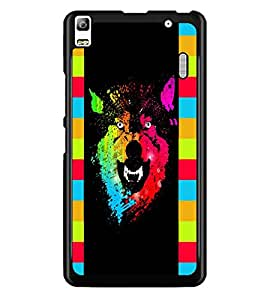 PrintDhaba Abstract Image D-5048 Back Case Cover for LENOVO A7000 PLUS (Multi-Coloured)