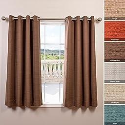 Half Price Drapes BOCH-PL1610-63-GR Bellino Grommet Blackout Curtain, 63\