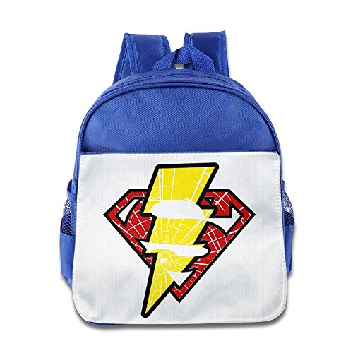 LINNA Funny Super Lightning Logo Mixed Kids School Bag Backpack For 1-6 Years Old RoyalBlue (Guardians Of The Galaxy Trailer compare prices)