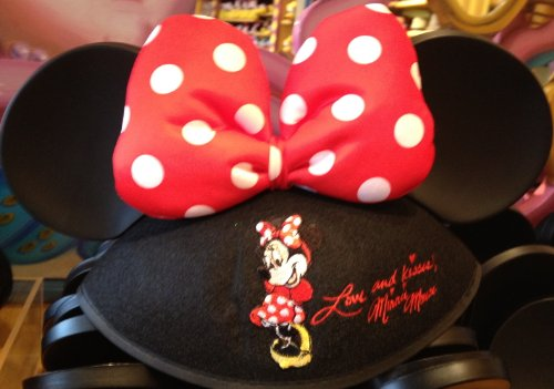 Disney Parks Polka Dot Bow Minnie Mouse Ears Hat - Youth Size