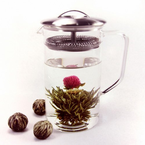Blooming Flower Tea Globe amaranth / Gongju Jasmine Green Tea / 12 Tea Balls / 50g / 1.8oz.