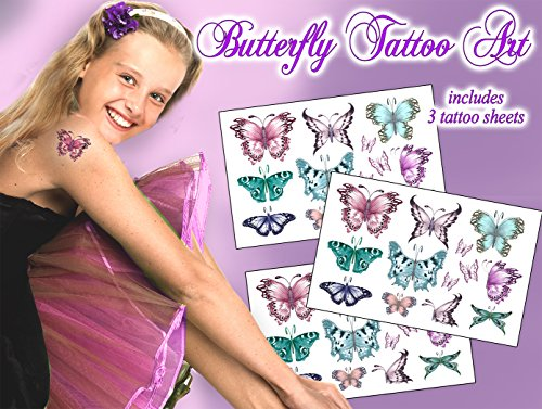 Butterfly Tattoo Art Temporary Tattoos