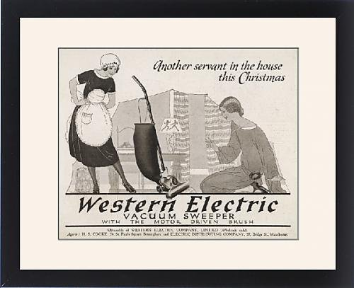 Framed Print Of Advert Vacuum Cleaner