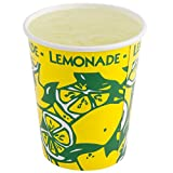 Perfect Stix LCL16-50 Squat Paper Lemonade Cup with Lids, 16 oz. ( Pack 50 Cups, Straws and Lids) (Pack of 50)