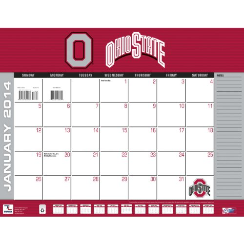 Turner - Perfect Timing 2014 Ohio State Buckeyes Desk Calendar, 22 x 17 Inches (8061307) at Amazon.com