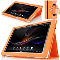MoKo Slim Cover Case for Sony Xperia Tablet Z 10.1 inch ORANGE (with Smart Auto Sleep / Wake Feature Flip Stand...