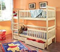 ALEXANDER Children Bunk Bed - Pine Wood - 24 Colours - 2 Sizes - 4 Types of Mattresses