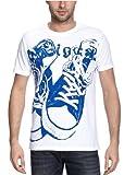 Desigual(デシグアル) メンズ 半袖Tシャツ ホワイト dg1303 【プリント/スニーカー/ロゴ】
