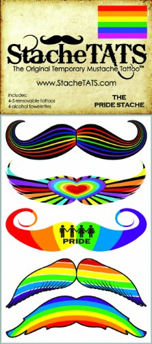 StacheTATS The Pride Temporary Mustache Tattoo - 1