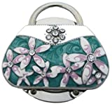 Handbag shape bag holder decorated with enamel & diamonte, Purse hook in luxurious gift box.