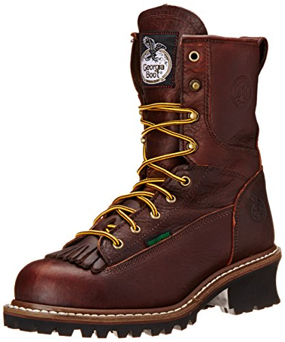 Georgia Boot Men's Loggers G7313 Work Boot,Tumbled Chocolate,8 M US