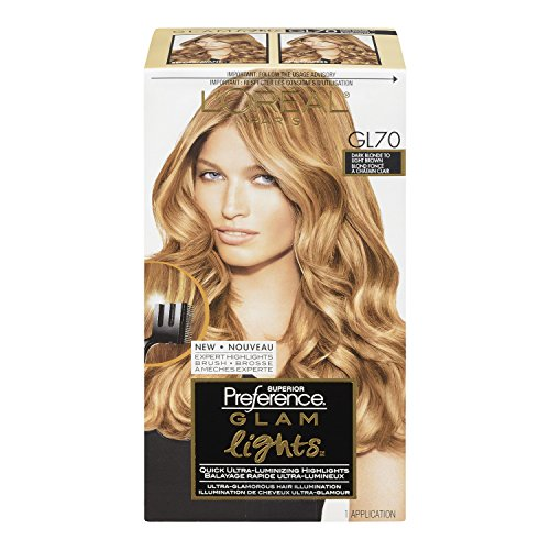 L'Oreal Paris Superior Preference Glam Lights Highlights, GL70 Dark Blonde To Light Brown (Highlight Dye compare prices)