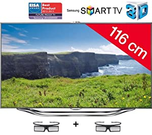 Samsung Lcd Ue 46Es8000 Led 3D 800Hz Smart Tv. Wi-Fi Integrato. Usb Pvr. 3Xhdmi. Slot Ci+. Dvb-T