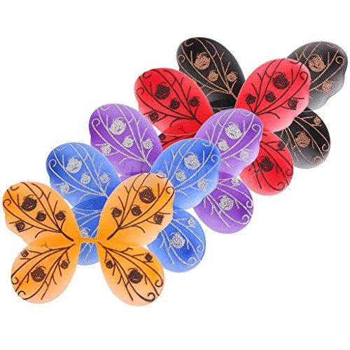 5 pcs Fairy Wings Butterfly Costume Girls Tinker Bell Halloween Angel Pixie