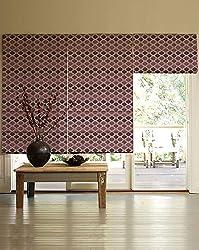 PRESTO BAZAAR 1 Piece Polyester Geometrical Blind - Purple
