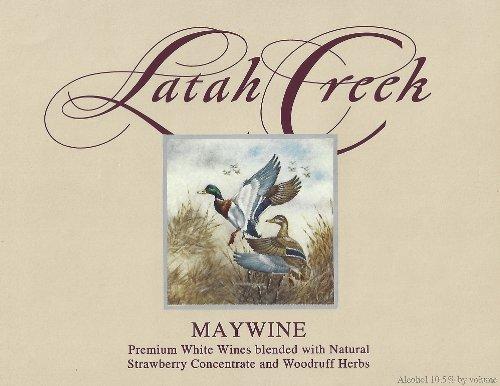 """Nv Latah Creek Winery """"Maywine"""" Columbia Valley Chenin Blanc 750 Ml"""