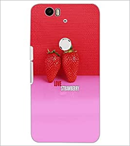 PrintDhaba Strawberries D-5037 Back Case Cover for HUAWEI NEXUS 6P (Multi-Coloured)