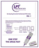 LPT Instant Onsite THC MARIJUANA Drug Test Device - 10 Individually Wrapped Test Cards - Laboratory Accuracy In the Privacy of your own Location