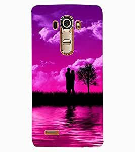 ColourCraft Love Couple Design Back Case Cover for LG G4