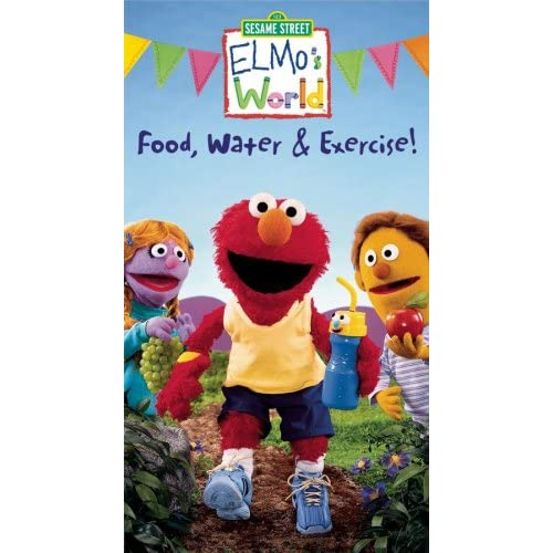 Elmo S World Food Water And Exercise Vhs