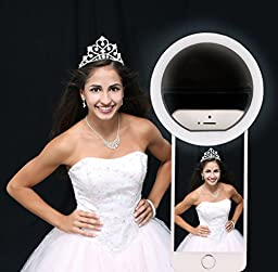 Flaunt Beauty Selfie Ring Light for iPhone 6 plus/6/6s/5s/4s/4 Samsung and all Smart Phones for perfect lighting