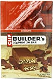 Clif Bar Builder's Bar, Chocolate, 2.4-Ounce Bars, 12 Count