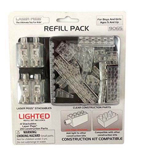 Laser Pegs Lighted Construction Refill Pack (Laser Pegs Ventures Llc compare prices)