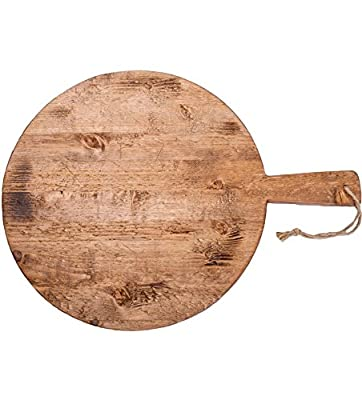 Rustic Wall Co. Reclaimed Wood Round Pizza Board, 15-Inch Diameter