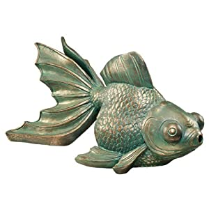 Design Toscano EU533068 Butterfly Asian Koi Piped Spitter Statue