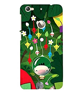 Vizagbeats cartoon flowers Back Case Cover for Le TV Le 1s