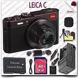 Leica C CMOS WiFi NFC Digital Camera (Red 18489) + 8GB SDHC Card + HDMI Cable + Soft Camera Case + 11pc Leica Saver Bundle