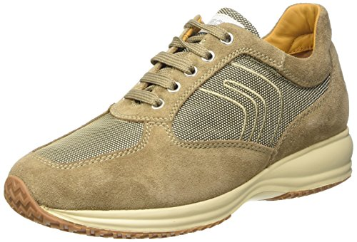 Geox U Happy Art. G Scarpe Low-Top, Uomo, Beige (Antelope), 41