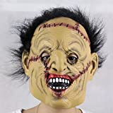 Halloween Mask! Elevin(TM)2016 New Adult Costume Masquerade Face Party Cosplay Carnival Fancy Mask Disgusting Face Zombies Mask Terror Witch Head Mask (Latex+Wig-C)
